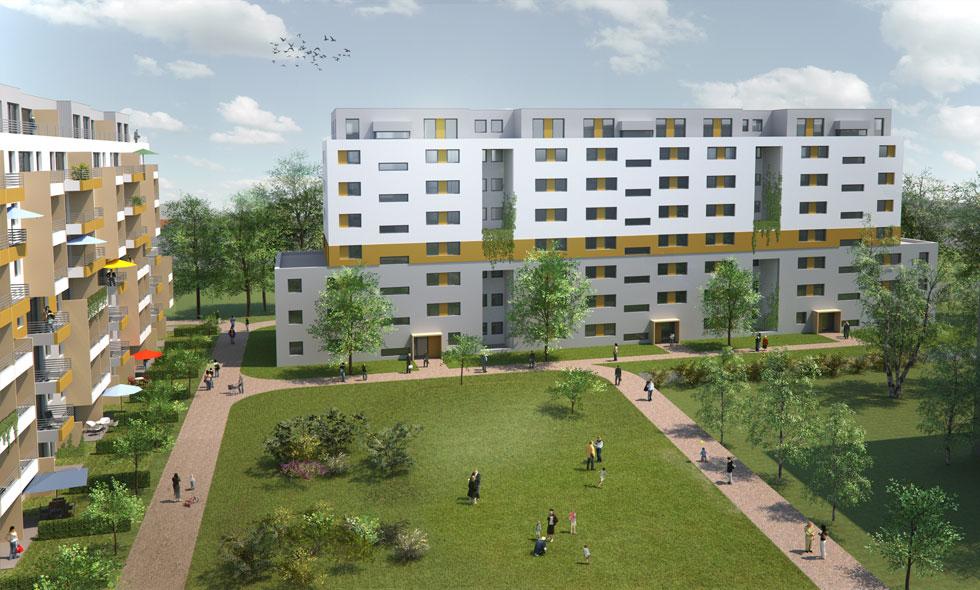 3d Visualisierung Frankfurt common rinck 3d visualisierung wohnbebauung frankfurt